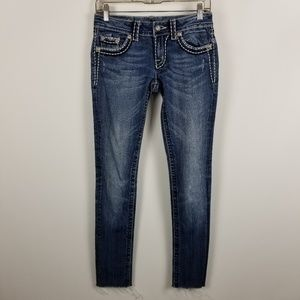 Miss Me Skinny JE515252Z Distress Jeans 27